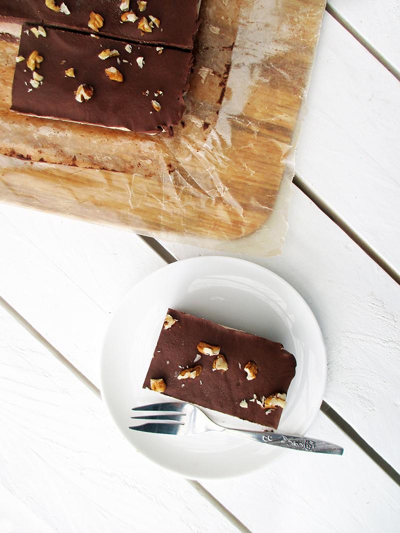 Nix Backen Vegane Glutenfreie Rohkost Walnuss Schokolade Schnitten Ohne Zucker Ohne Cashews Rezept 2