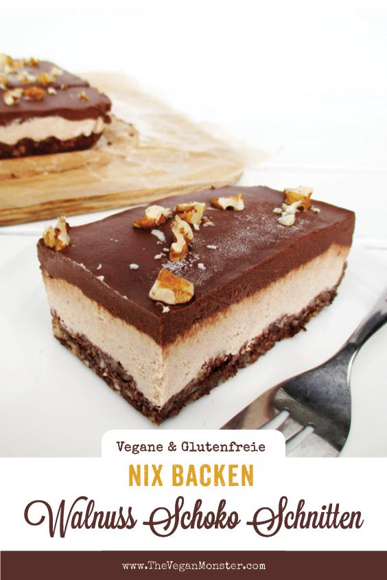 Nix Backen Vegane Glutenfreie Rohkost Walnuss Schokolade Schnitten Ohne Zucker Ohne Cashews Rezept P2