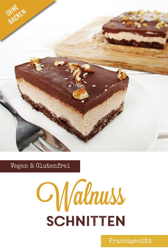 Nix Backen Vegane Glutenfreie Rohkost Walnuss Schokolade Schnitten Ohne Zucker Ohne Cashews Rezept P3