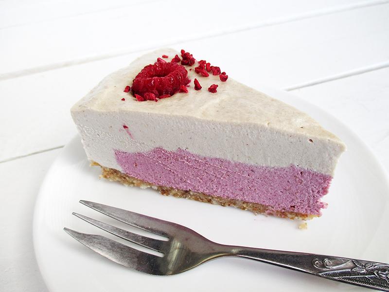 No Bake Vegan Gluten free Dairy free Refined Sugar Free Raspberry Vanilla Cake Recipe 5