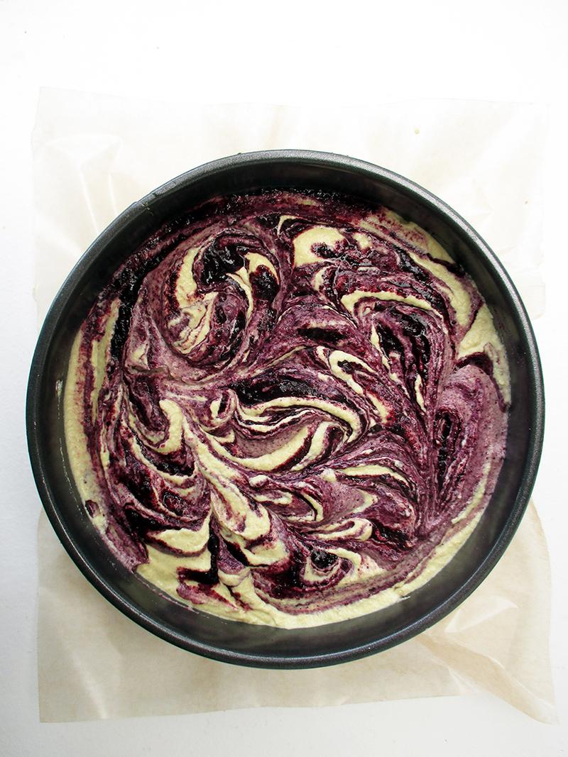 No Bake Vegan Gluten free Refined Sugar Free Lemon Blueberry Cake Recipe 1