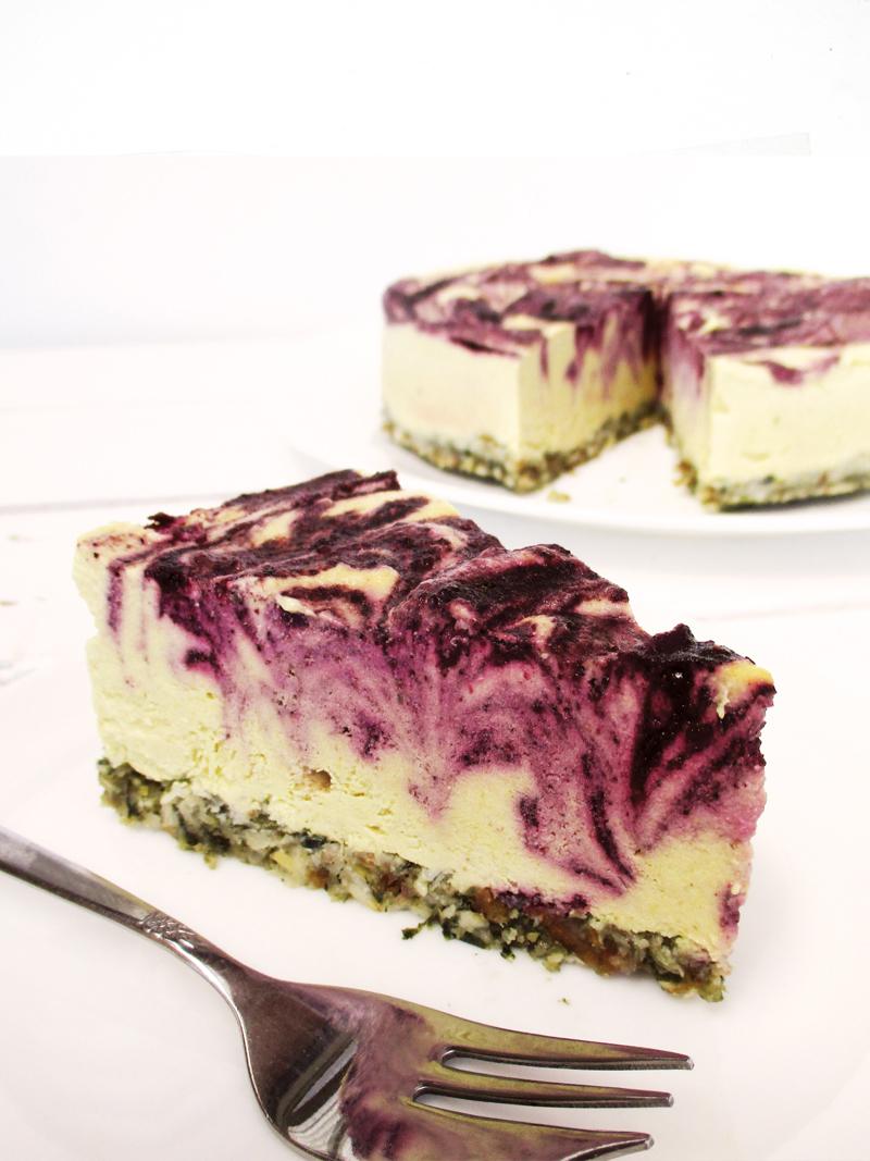 No Bake Vegan Gluten free Refined Sugar Free Lemon Blueberry Cake Recipe 4