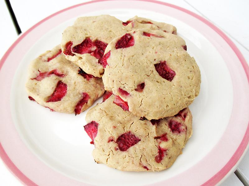 Vegane Glutenfreie Cashew Vanille Erdbeer Cookies Ohne Kristallzucker Rezept 2