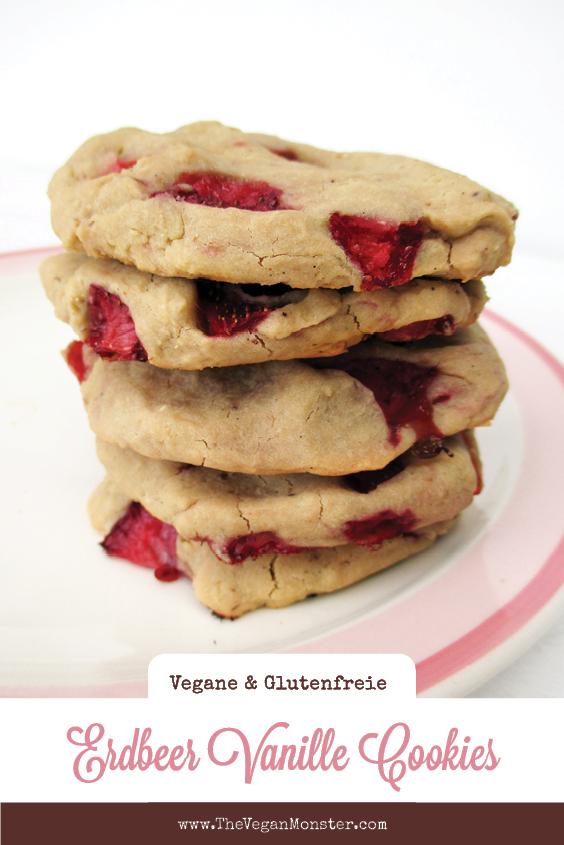 Vegane Glutenfreie Cashew Vanille Erdbeer Cookies Ohne Kristallzucker Rezept P2