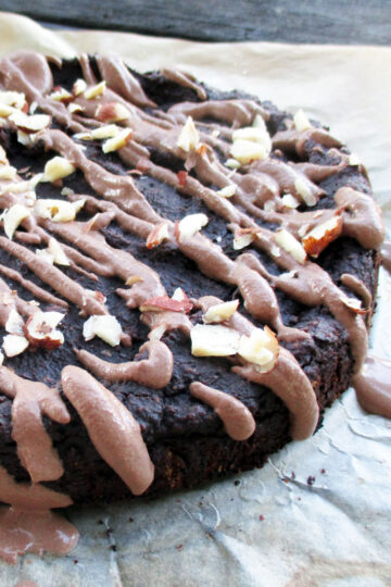 Vegan Gluten free Nutty Chocolate Cake Recipe 3