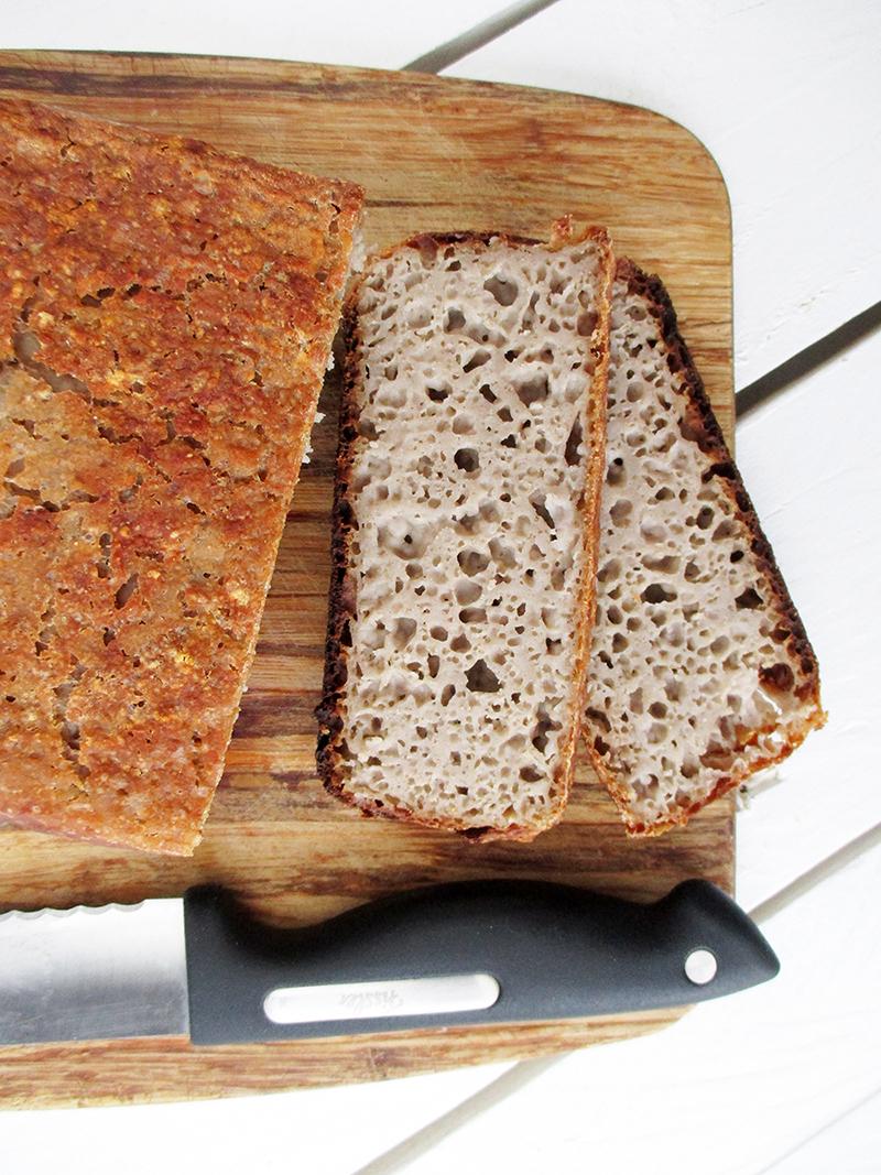 Gluten-free vegan Bread Yeast-free