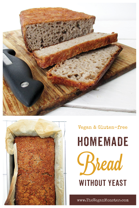 Vegan Gluten free Yeast free Bread Recipe P