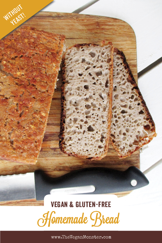 Vegan Gluten free Yeast free Bread Recipe P2