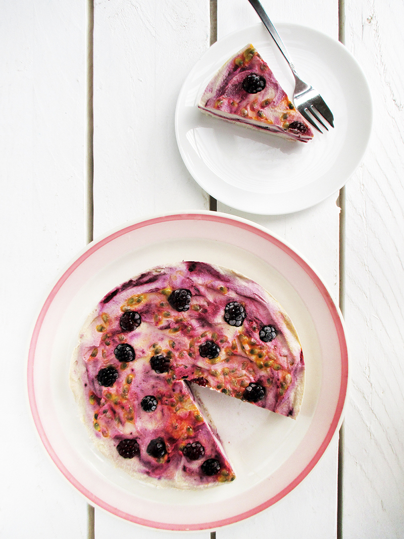 Nix Backen Veganer Glutenfreier Beeren Maracuja Eiscreme Torte Ohne Kristallzucker Rezept 4