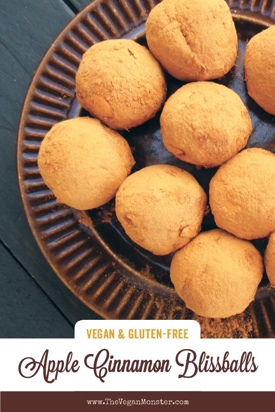 Vegan Gluten free No Refined Sugar Easy Apple Cinnamon Blissballs Recipe P2