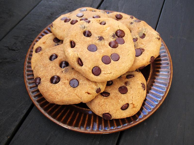 Vegan Gluten free Refined Sugar Free Chocolate Chip Cookies Recipe 2