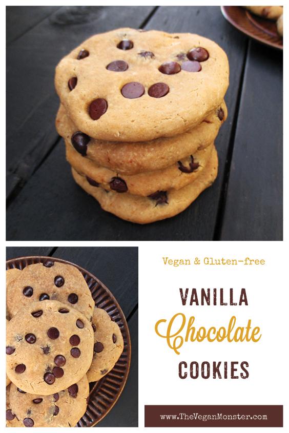 Vegan Gluten free Refined Sugar Free Chocolate Chip Cookies Recipe P