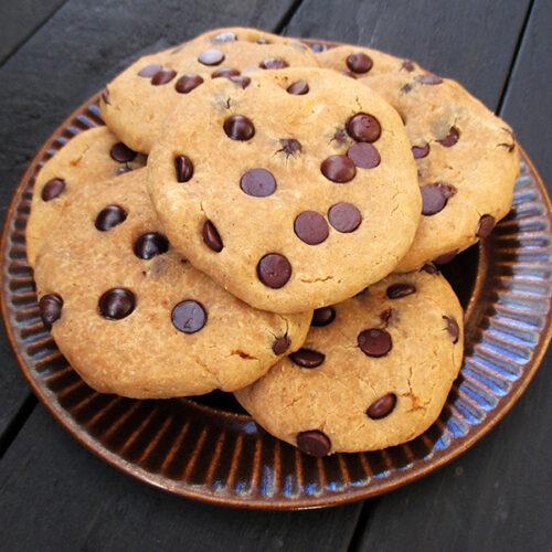 Vegane Glutenfreie Vanille Schokoladen Cookies Kekse Rezept 2 1