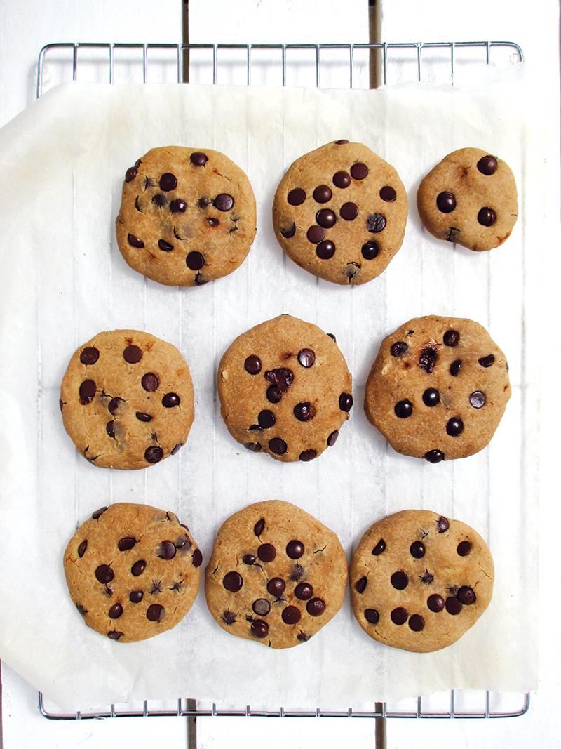 Vegane Glutenfreie Vanille Schokoladen Cookies Kekse Rezept 3
