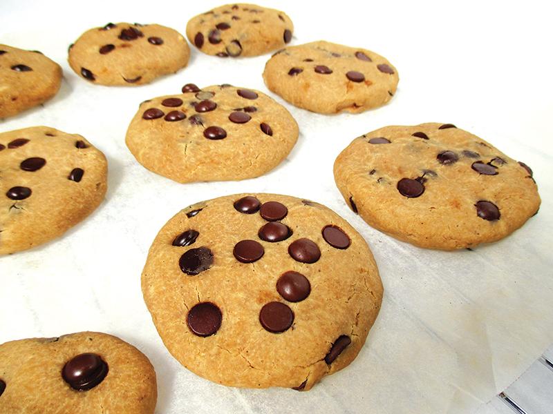 Vegane und glutenfreie Vanille-Schoko-Cookies
