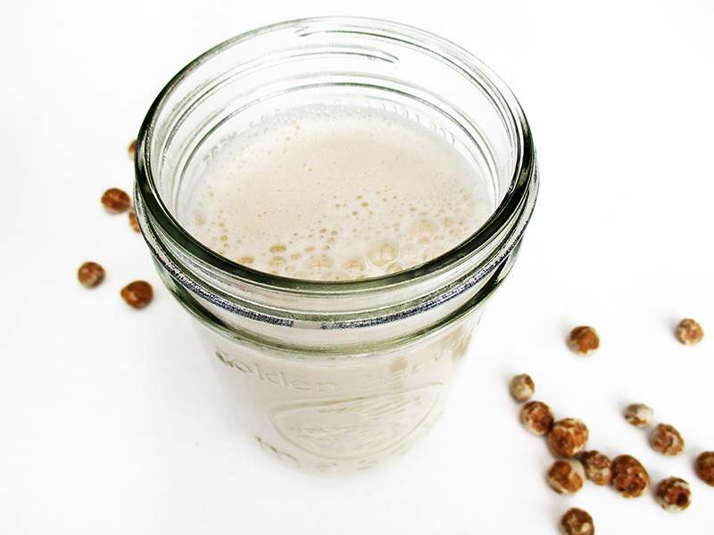 Vegan Gluten free Dairy free Nut free Tigernut Milk Recipe 3