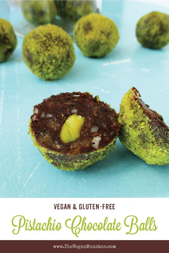 Vegan Gluten free Macadamia Pistachio Chocolate Blissballs No Refined Sugar Recipe P