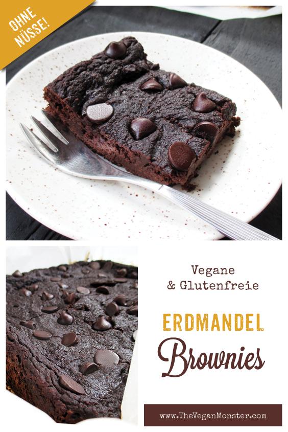 Vegane Glutenfreie Erdmandel Brownie Schnitten Ohne Nuesse Rezept P1