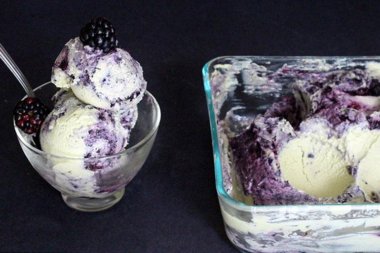 Raw Vegan Blueberry Vanilla Ice Cream by Amanda Nicole Smith