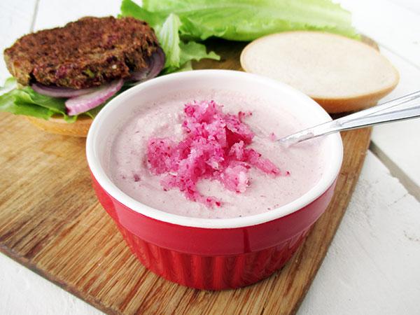 Veganer Glutenfreier Rohkoestlicher Radieschen Dip Sosse Sauce Rezept 01
