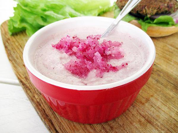 Veganer Glutenfreier Rohkoestlicher Radieschen Dip Sosse Sauce Rezept 03