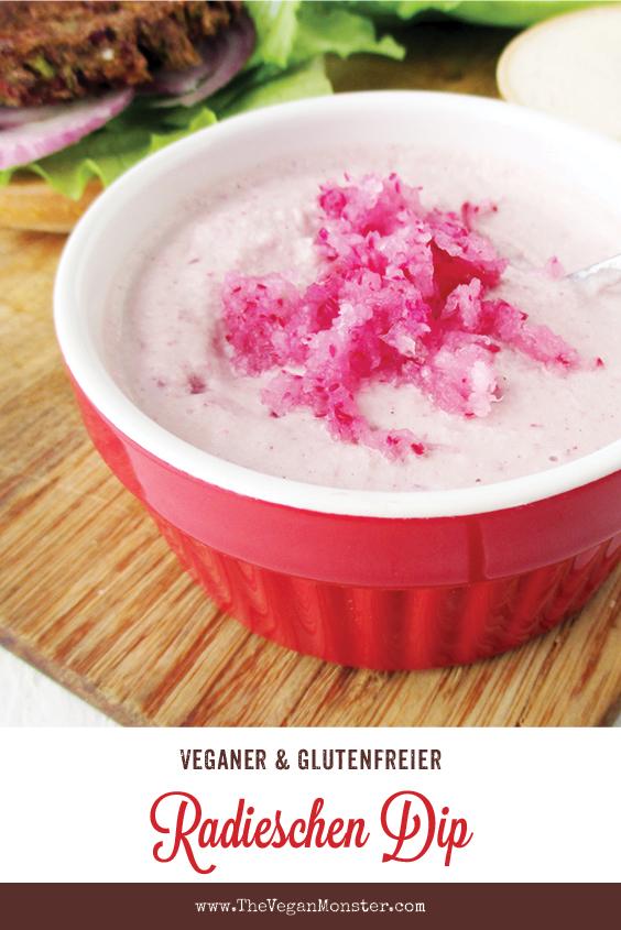 Veganer Glutenfreier Rohkoestlicher Radieschen Dip Sosse Sauce Rezept P1