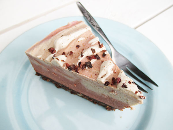 No Bake Vegan Gluten free Pink Chai Cake Without Refined Sugar Recipe 4
