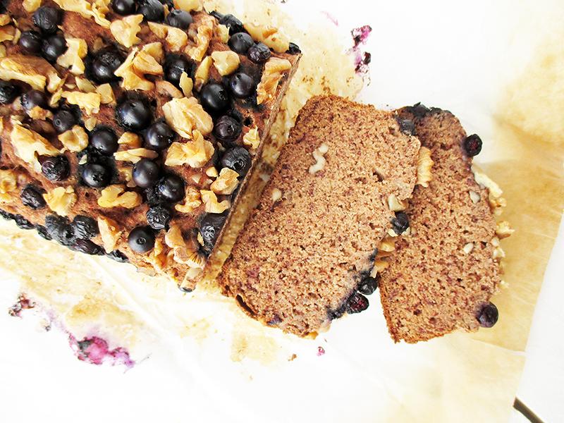 Vegan Gluten free Banana Walnut Blueberry Loaf Without Refined Sugar Recipe 4