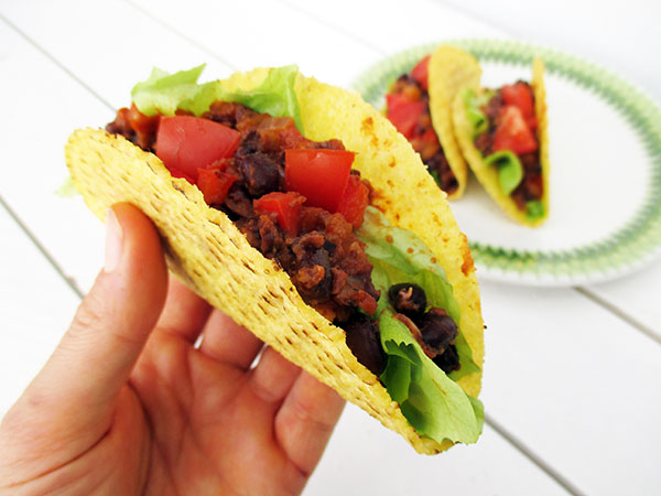 Vegan Gluten free Spicy Bean Taco Filling Recipe 2
