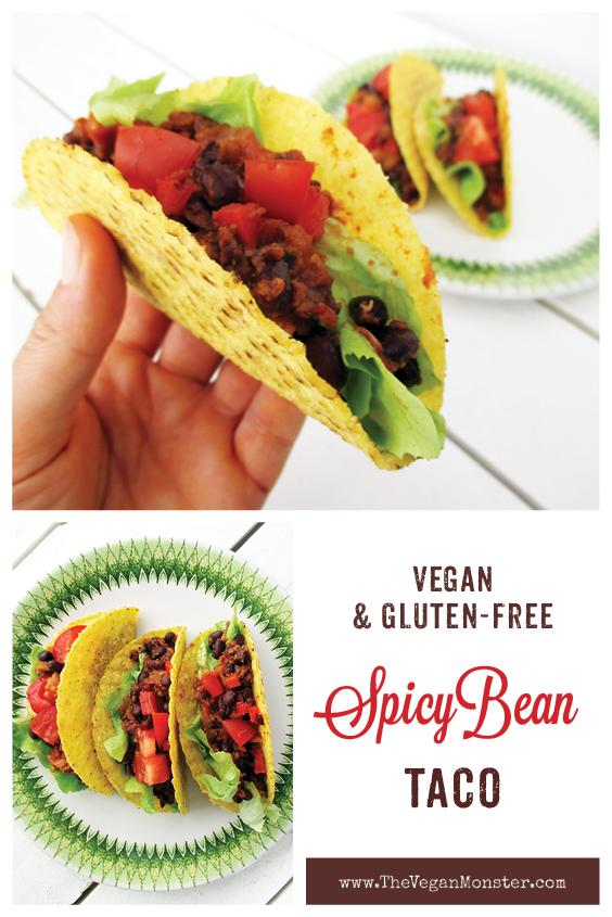 Vegan Gluten free Spicy Bean Taco Filling Recipe P2