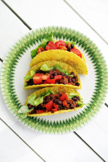 Vegane Glutenfreie Scharfe Bohnen Taco Rezept 1 1