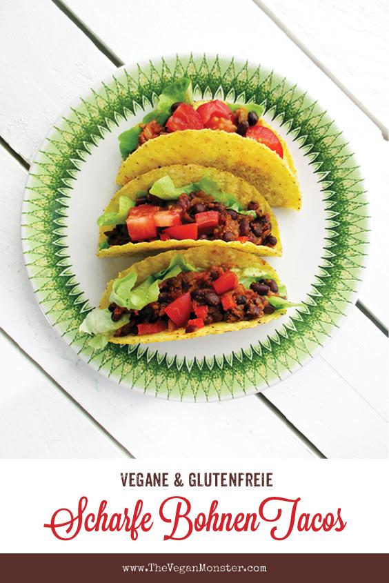Vegane Glutenfreie Scharfe Bohnen Taco Rezept P1