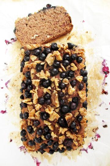 Veganes Glutenfreies Bananen Walnuss Blaubeer Brot Ohne Kristallzucker Rezept 2 1