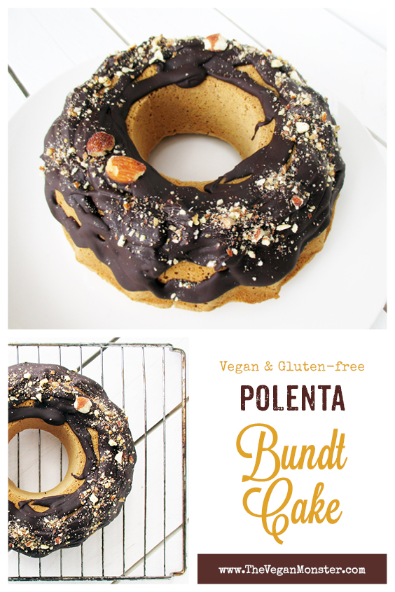 Vegan Gluten free Refined Sugar Free Polenta Bundt Cake Recipe P12