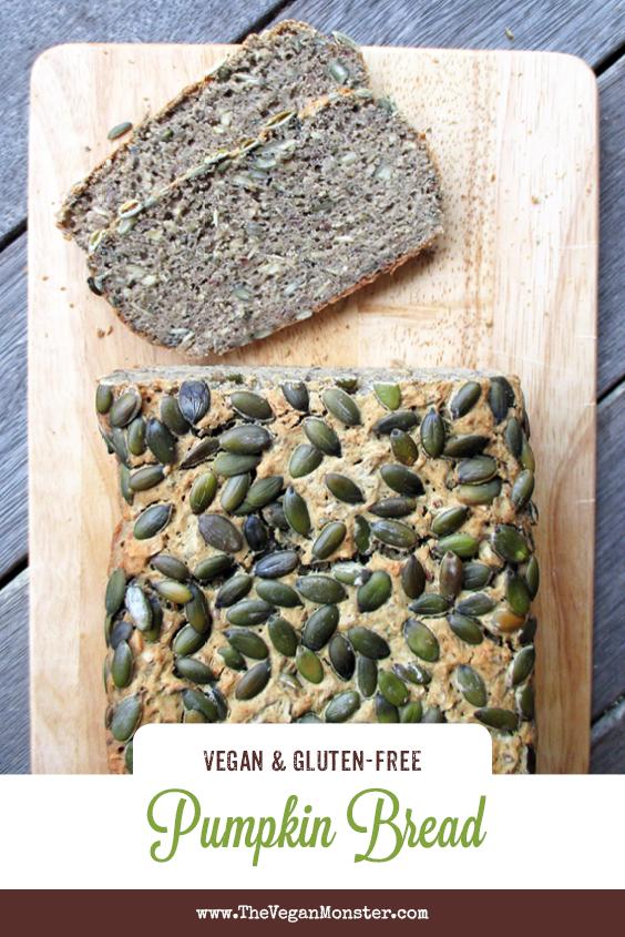 Vegan Gluten free Dairy free Egg free Pumpkin Bread Recipe P
