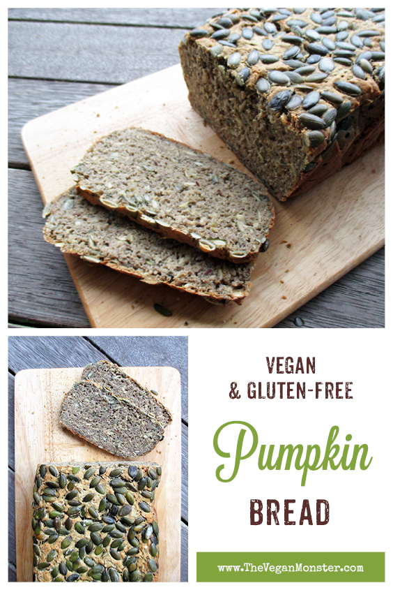 Vegan Gluten free Dairy free Egg free Pumpkin Bread Recipe P2