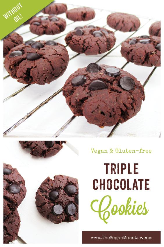 Vegan Gluten free Dairy free Triple Chocolate Cookies Recipe P2