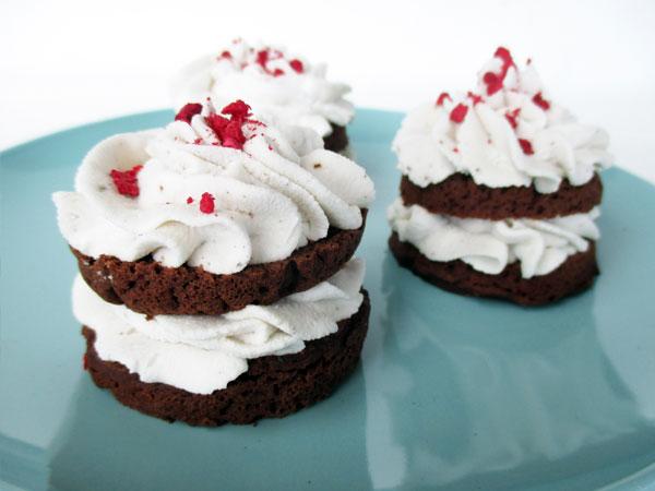 Vegan Gluten free Mini Chocolate Cakes And Coconut Frosting Recipe 3