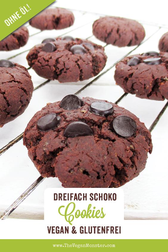 Vegane Glutenfreie Dreifach Schokoladen Cookie Rezept P1