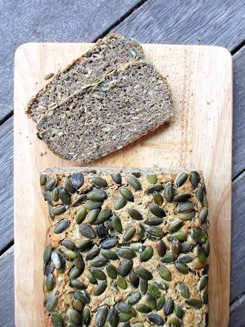 Veganes Glutenfreies Kuerbiskern Brot Rezept Ohne Milch 2