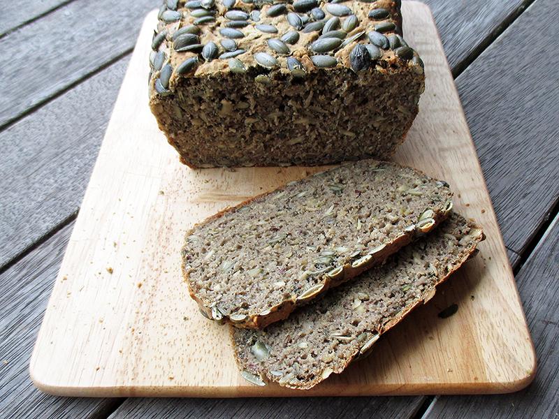 Veganes Glutenfreies Kuerbiskern Brot Rezept Ohne Milch 3