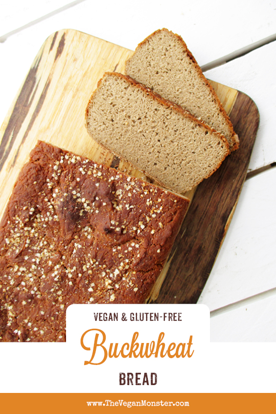 Easy Vegan Gluten free Buckwheat Bread Recipe P