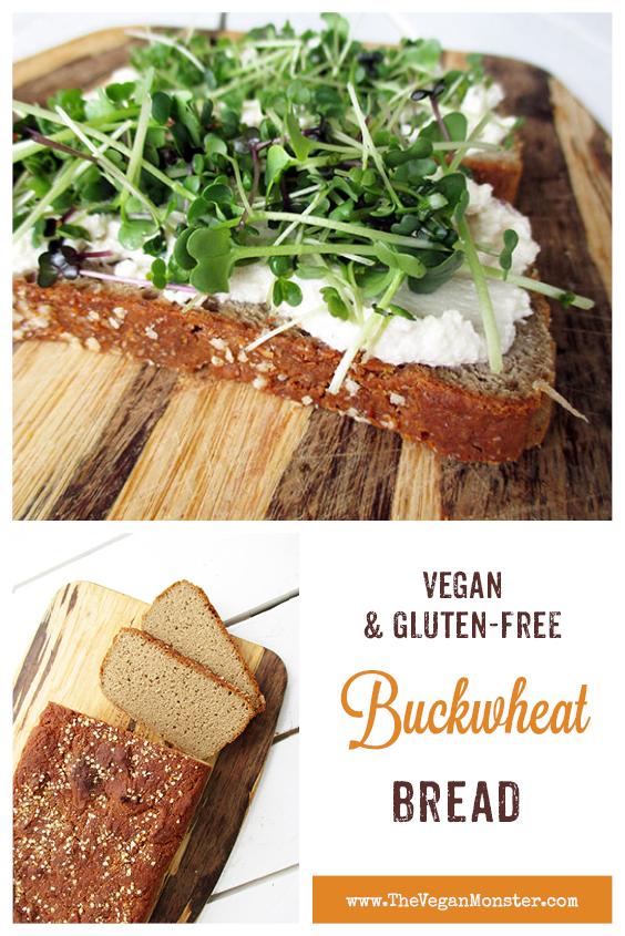 Easy Vegan Gluten free Buckwheat Bread Recipe P2