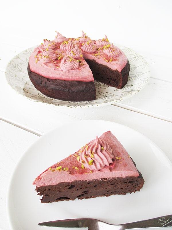 Vegan Gluten-free Pink Chai Chocolate Cake Recipe