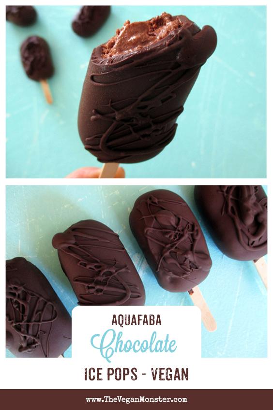 Vegan Gluten free Dairy free Aquafaba Chocolate Ice Pops Recipe P