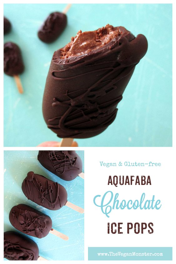 Vegan Gluten free Dairy free Aquafaba Chocolate Ice Pops Recipe P2