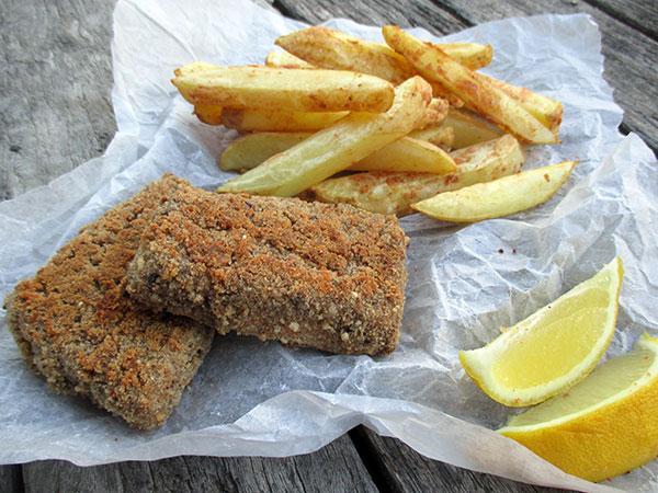 Vegan Gluten-free Oil-free Tofish And Chips Recipe