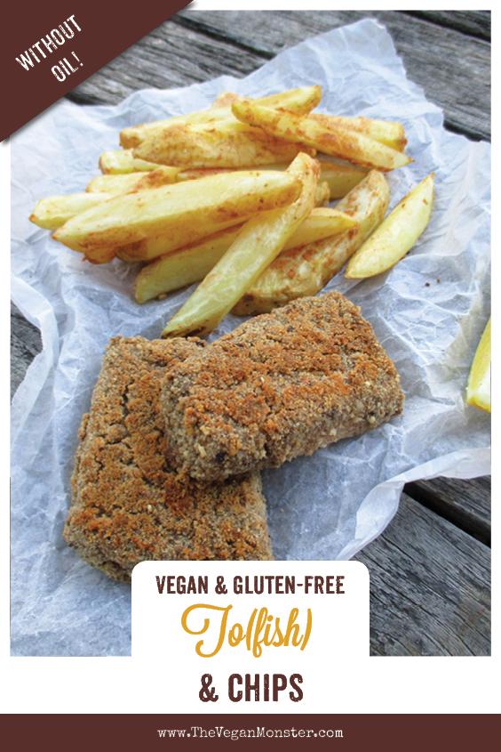 Vegan Gluten free Oil free Tofish And Chips Recipe 1