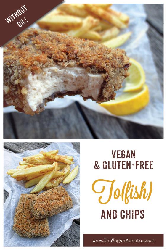 Vegan Gluten free Oil free Tofish And Chips Recipe 2
