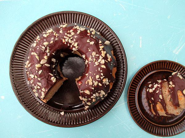 Vegan Gluten-free Banana Cake With Peanutbutter Chocolate Frosting Recipe